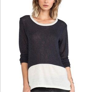 LNA REVOLVE Gulf Sweater Color Block Long Sleeve